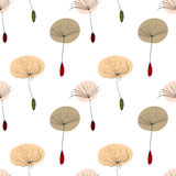 Dandelion seeds on white background Royalty Free Stock Photography