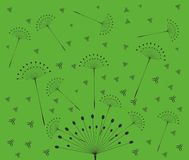 Dandelion with seeds on yellow background Royalty Free Stock Photography