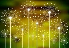Dandelion sylwetki na rozmytym tle Obrazy Royalty Free