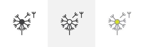 Dandelion, taraxacum ikona ilustracji