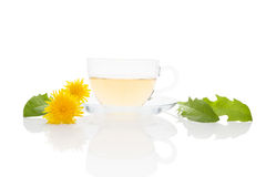 Dandelion tea background, herbal remedy. Royalty Free Stock Photography