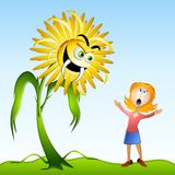 Dandelion Weed Allergy Monster Stock Image