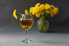 Dandelion wine Royalty Free Stock Image