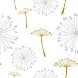 Dandelion wzór Obrazy Stock