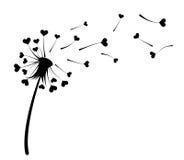 Dandelion z sercami ilustracji
