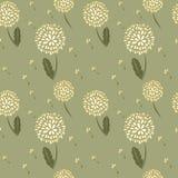Dandelions background. Elegance seamless background with blowballs Stock Illustration