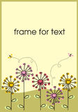 Dandelions frame. The Beautiful frame with flowers graphics. The Illustration Royalty Free Stock Photography