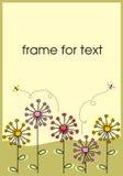 Dandelions frame Vector Illustration