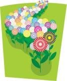 dandelions gazon ilustracji