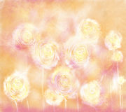 Dandelions. Horizontal layout. Dandelions. The horizontal arrangement, abstract, blurred background Royalty Free Stock Photography