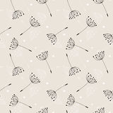 Dandelions seamless pattern Royalty Free Stock Image