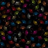 Dandelions seed pattern Stock Image