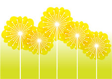 Dandelions silhouettes Royalty Free Stock Images