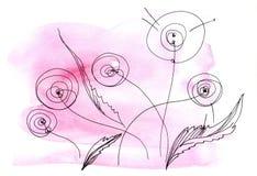 dandelions stylizujący Obrazy Royalty Free