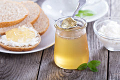 Dandellion jam in a jar Stock Image