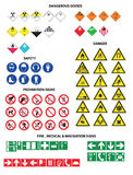 Danderous goods icons big set Royalty Free Stock Photo