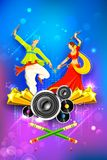 Dandiya-Nachtplakat Lizenzfreies Stockbild