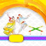 Dandiya Night Poster Stock Image