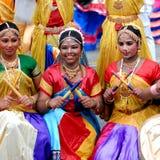 Dandiya Raas tancerze fotografia stock