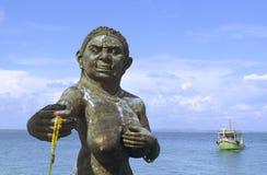 Dando boas-vindas à estátua dos ogress de Phra Aphai Mani no porto principal Fotos de Stock
