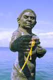 Dando boas-vindas à estátua dos ogress de Phra Aphai Mani no porto principal Foto de Stock Royalty Free
