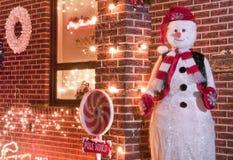 Dando boas-vindas ao boneco de neve Imagem de Stock