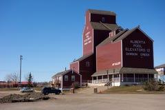 Dando boas-vindas ao centro em Dawson Creek, Canadá Fotografia de Stock Royalty Free