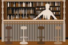 Dando boas-vindas ao empregado de bar Fotografia de Stock Royalty Free