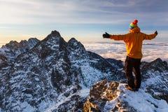 Dando boas-vindas a um dia novo em Tatras Imagem de Stock Royalty Free