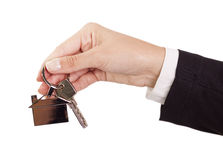 Dando chaves da casa Foto de Stock