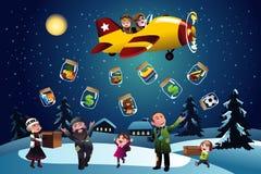 Dando a doação durante o Natal Foto de Stock