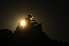 Dando il benvenuto per il sole Immagini Stock