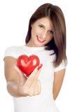Dando o conceito do amor Imagem de Stock