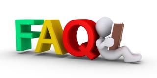 Dando respostas ao FAQ Fotos de Stock Royalty Free