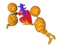 Dando un corazón (donación médica) stock de ilustración