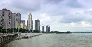 Dandong City, Liaoning Province Yalu River Bund Royalty Free Stock Photography