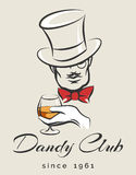 Dandy Club Emblem Images libres de droits
