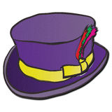 Dandy Hat roxo Foto de Stock Royalty Free