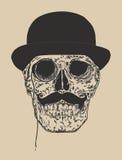 Dandy Skull Imagen de archivo libre de regalías