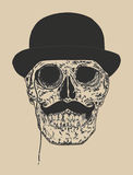 Dandy Skull Immagine Stock Libera da Diritti