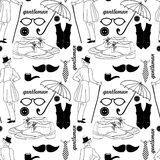 Dandy style vintage seamless pattern Stock Images
