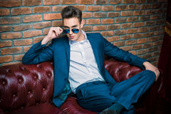 Dandy in sunglasses Royalty Free Stock Photography