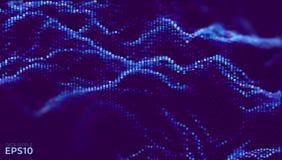 Dane abcstact wektoru falowy tło Technologia skład Blockchain sieci analiza ilustracja wektor
