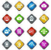 Dane analityczne i ogólnospołeczne sieci ikony Zdjęcie Royalty Free