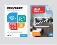 Dane analityka broszurki ulotki projekta szablon Fotografia Stock