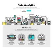 Dane analityka mieszkania linii sieci grafika ilustracji