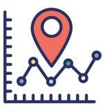 Dane analityka Odizolowywali Wektorową ikonę która może łatwo modyfikować lub redagować dane analityka Odizolowywał Wektorową iko ilustracji
