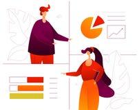 Dane analiza - płaskiego projekta stylu kolorowa ilustracja royalty ilustracja