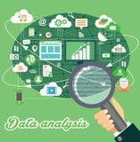 Dane analizy ilustracja Ilustracja Wektor