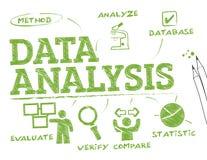 Dane analizy mapa ilustracja wektor